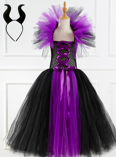 Halloween Witch Cosplay Tulle Tutu Dress