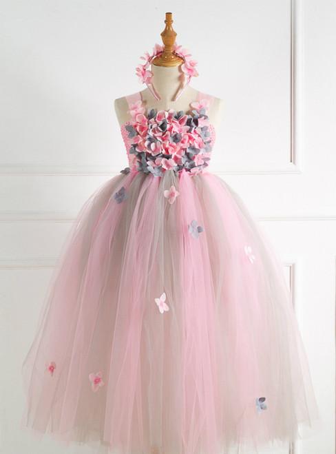 Red Tulle Tutu Flower Princess Dress