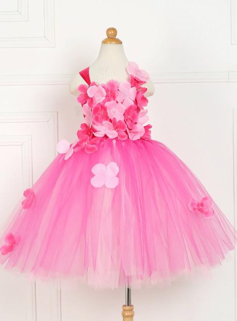 Pink Tulle Tutu Flower Princess Dress