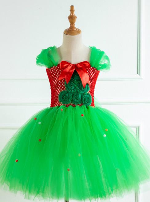 Green Christmas Tulle Tutu Dress