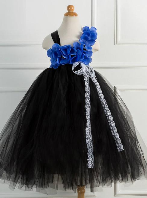 Handmade Black Tulle Tutu Girls Dress