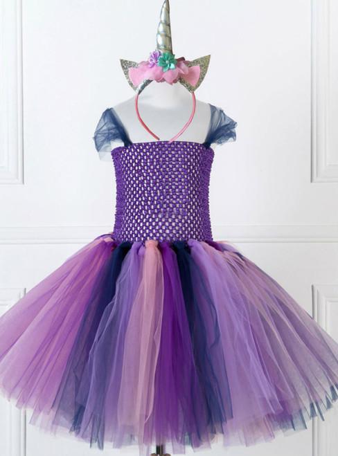 Purple Tulle Tutu Party Dress