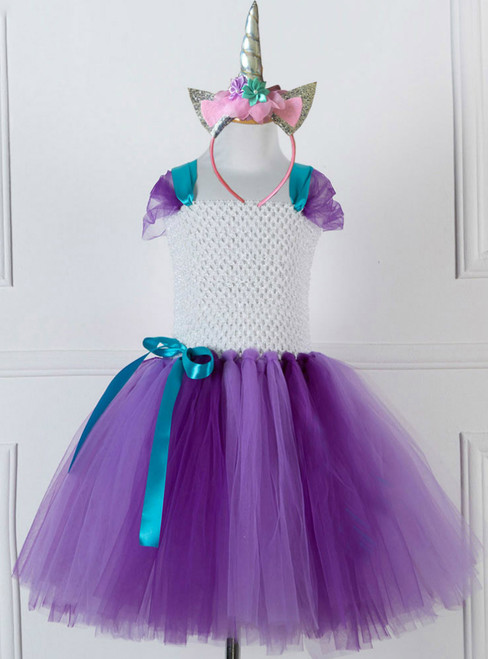 Purple Tulle Tutu Costume Party Dress