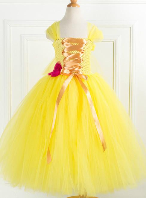 Yellow Tulle Halloween Party Tulle Tutu Dress