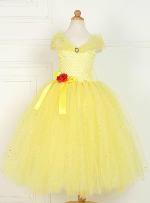 Yellow Tulle Halloween Custume Tulle Tutu Dress