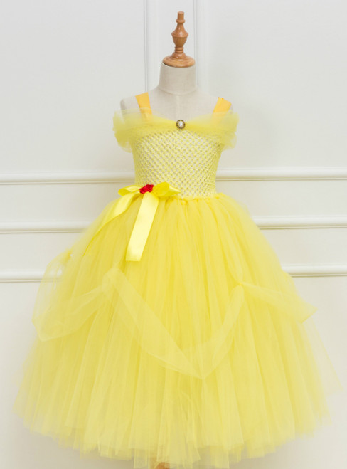 Yellow Tulle Custume Tulle Tutu Dress