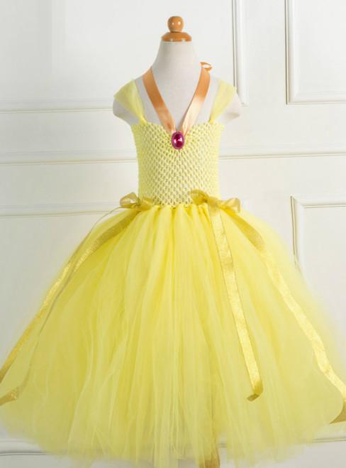 Yellow Tulle Custume Party Tulle Tutu Dress