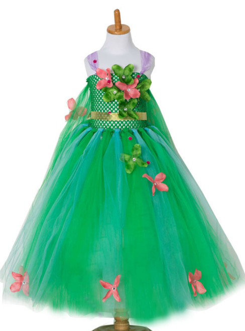 Green Tulle Handmade Tutu Dress