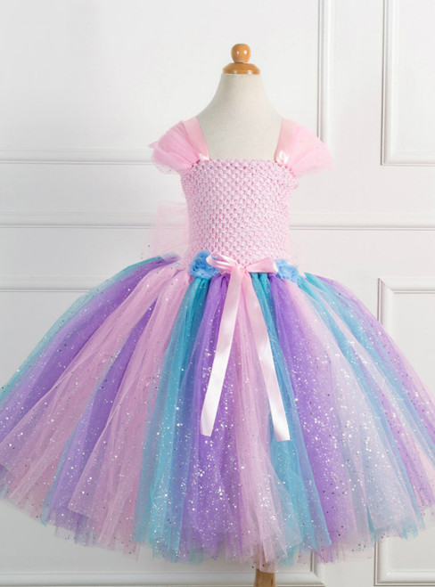 Girl Colorful Tulle Tutu Party Dress