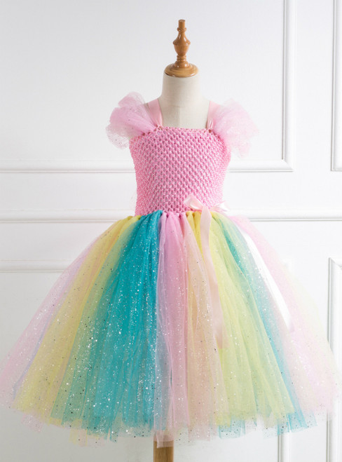 Colorful Tulle Tutu Party Birthday Dress