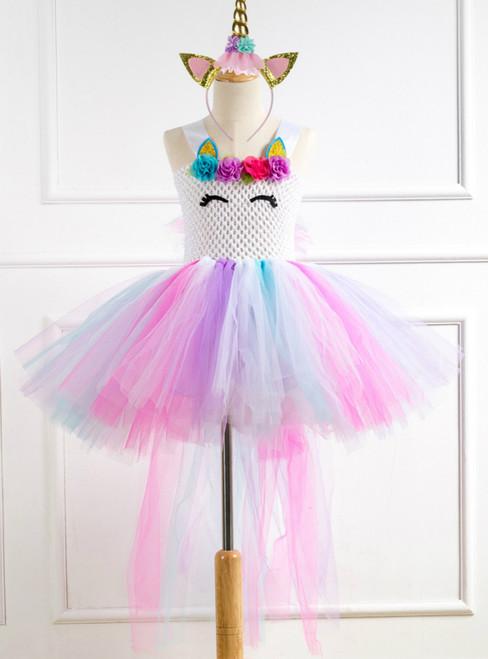 Girls Unicorn Tulle Tutu Party Dress