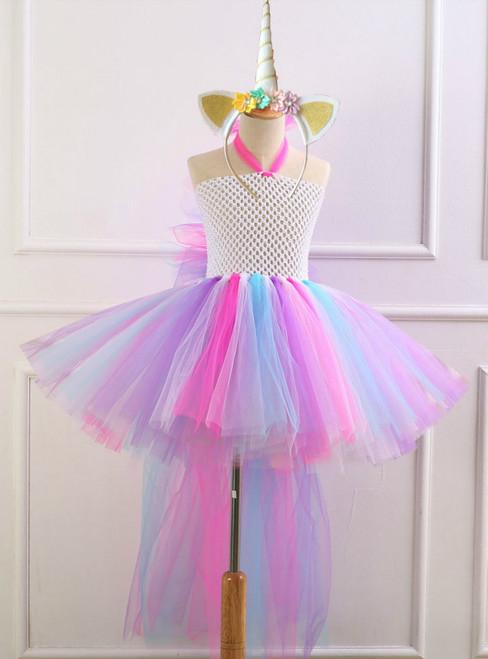 Unicorn Colorful Tulle Tutu Dress