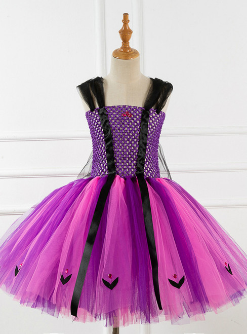 Girls Purple Tulle Tutu Halloween Dress