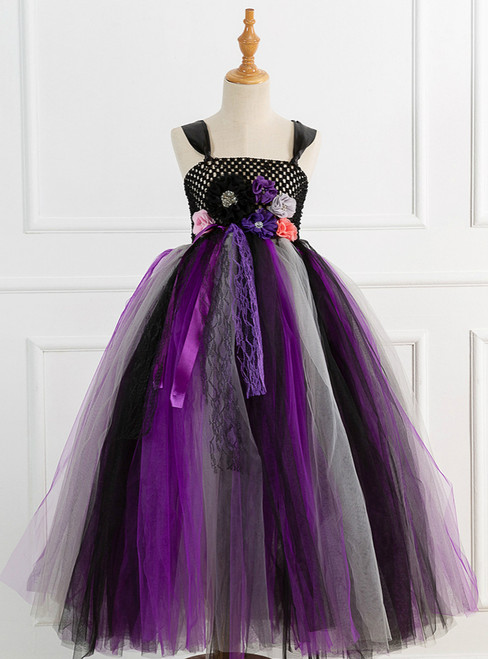 Children's Lace Witch Flower Princess Dress