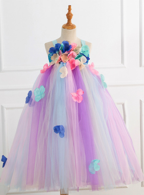 Petal Tulle Tutu Girls Dress