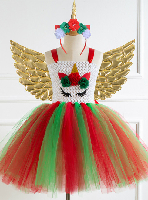 Girls Tulle Tutu Dreams Dress With Wing