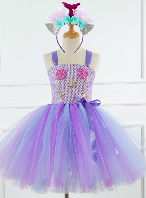 Purple Tulle Tutu Shell Drees