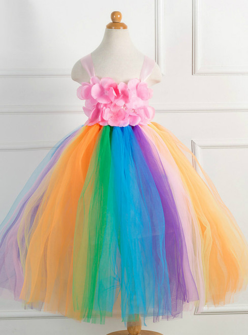Christmas Day Petal Tulle Tutu Dress