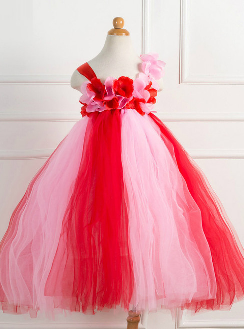 Christmas Day Petal Tulle Girls Tutu Dress