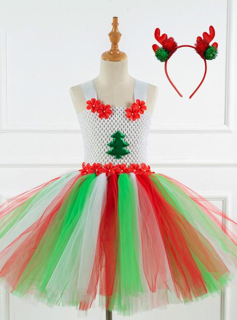 Halloween Christmas Tree Tulle Tutu Dress