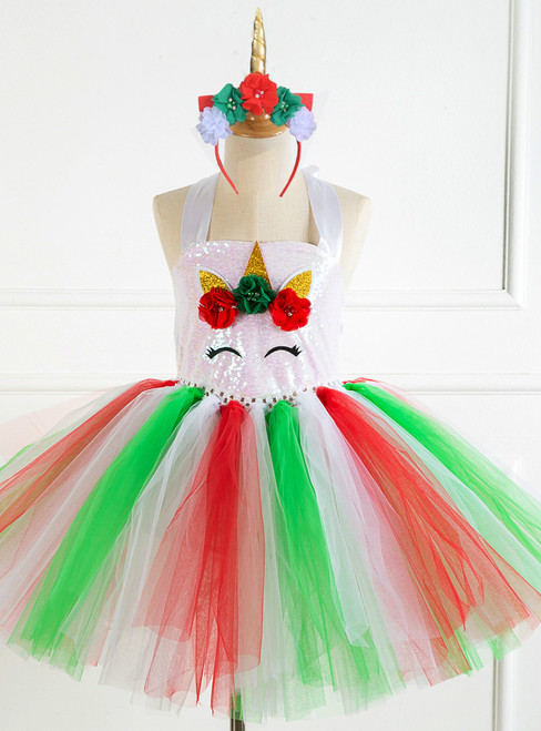 Christmas Sequins Tulle Paty Dress