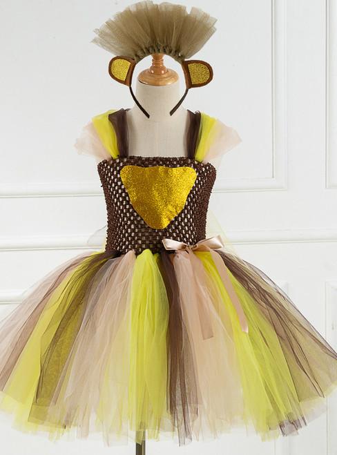 Cosplay Leopard Tulle Tutu Dress