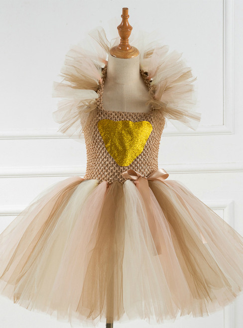 Halloween Party Coffee Tulle Tutu Dress