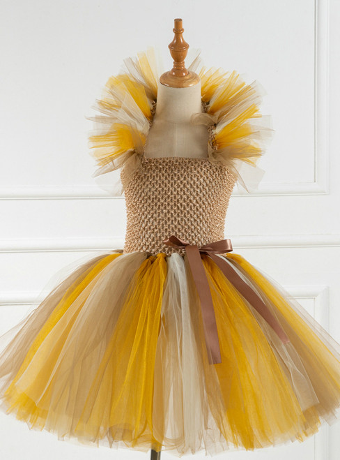 Girls Halloween Party Tulle Tutu Princess Dress