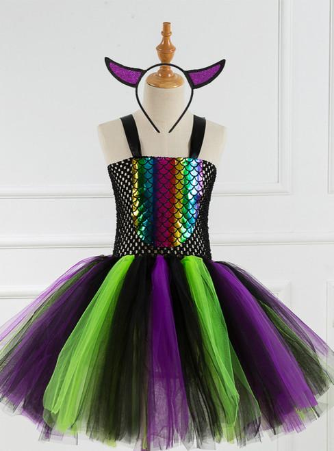 Colorful Fish Halloween Children's Tutu Dress