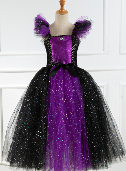 Cosplay Witch Tulle Sequins Tutu Dress