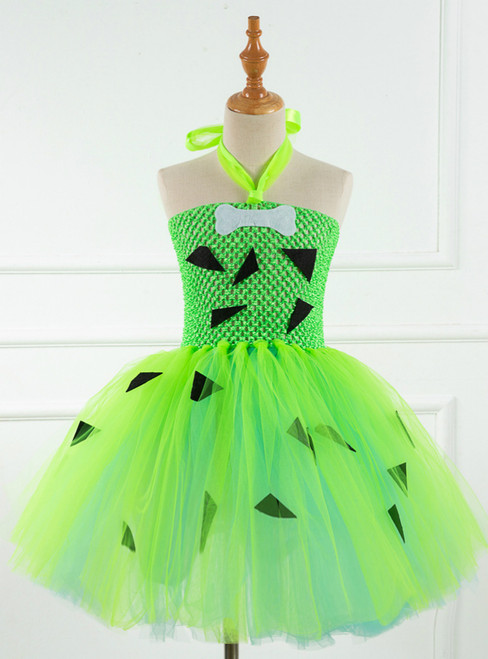 Halloween Costumes Dog Bones Green Tulle Dress