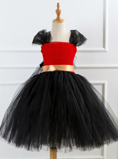Girls Black Tulle Tutu Dress