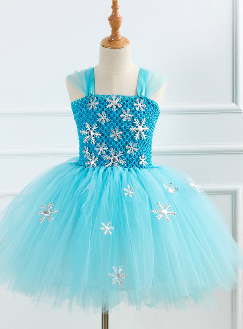 Girls Snow Princess Snowflake Dress