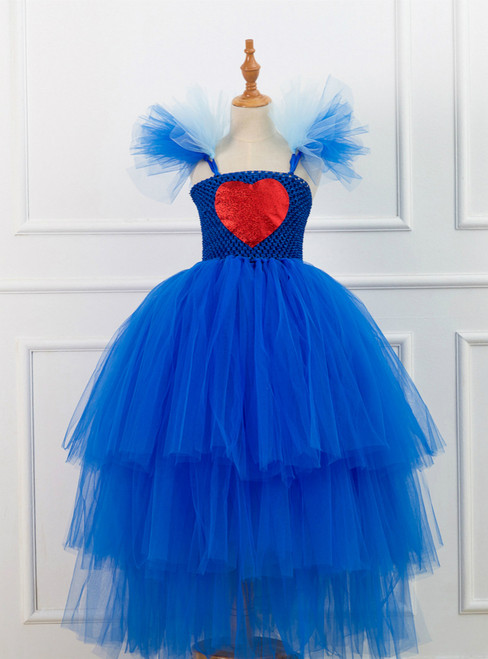 Blue Tulle Love Girl Party Dress