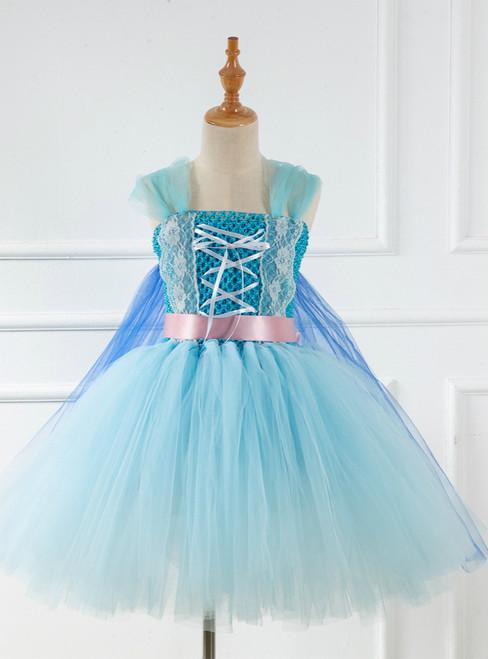 Lace Frozen Blue Tulle Tutu Dress