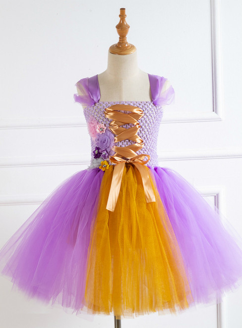 Butterfly Knitting Tulle Tutu Dress