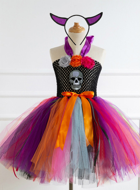 Halloween Skull Tulle Tutu Dress