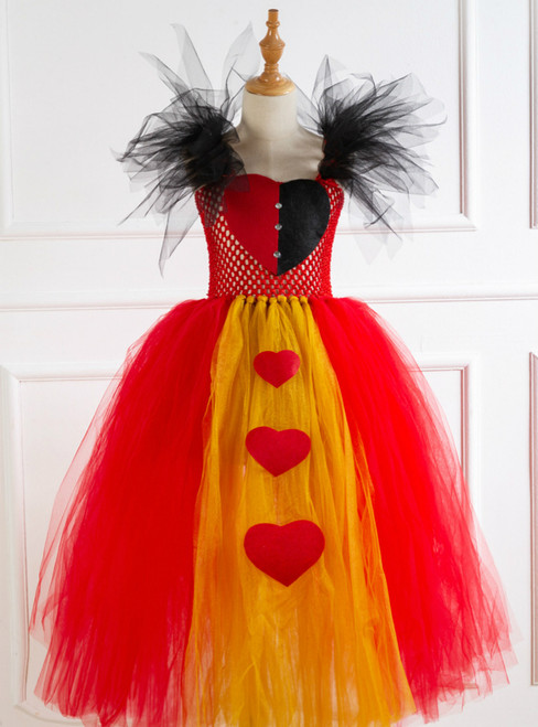 Halloween Cospaly Witch Hearts Tutu Dress
