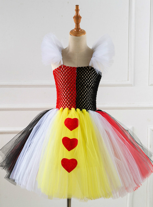 Halloween Cospaly Witch Hearts Short Tutu Dress