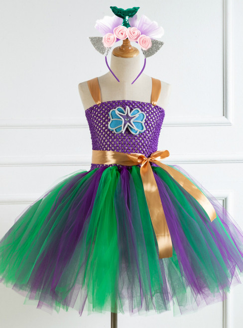 Girls Starfish Shell Tulle Tutu Party Dress