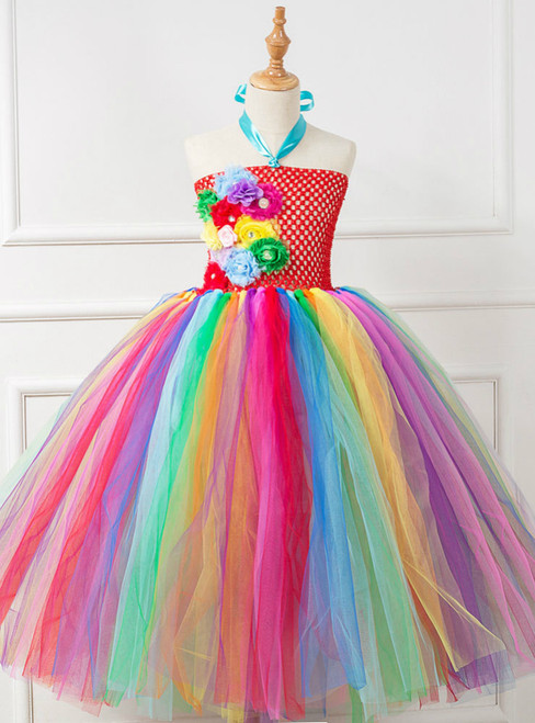 Girls Headband Costume Colorful Tulle Dress