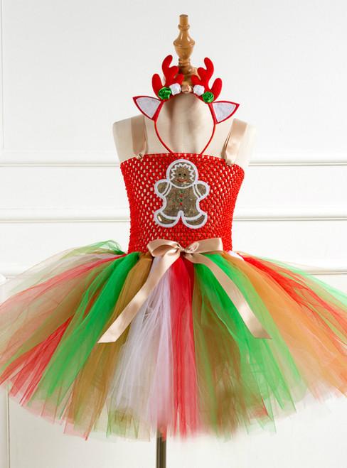 Girls Christmas Day Tulle Tutu Dress