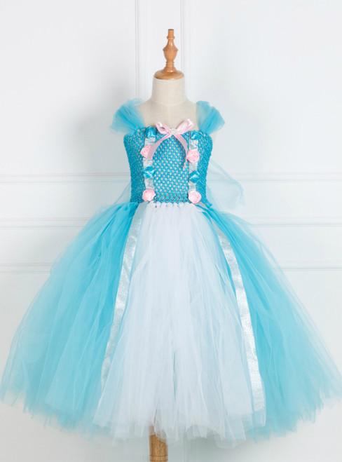 Girls Blue Tulle Tutu Costume Dress