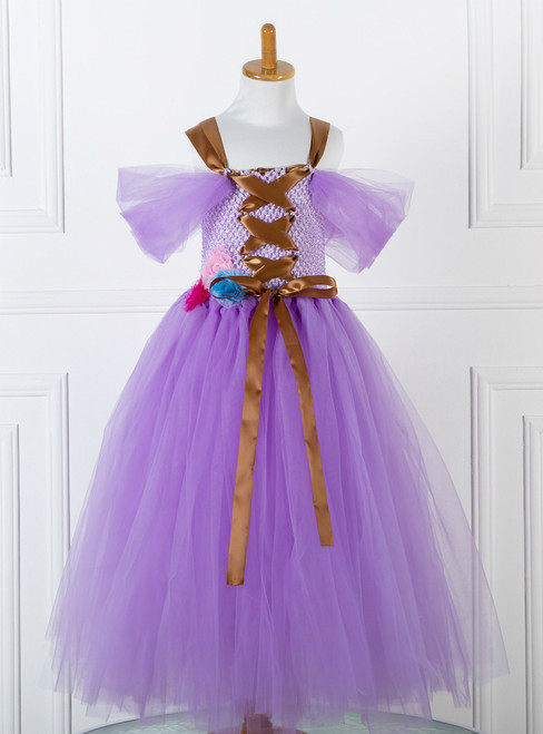 Purple Tulle Tutu Dress Costume Little Girl Dress