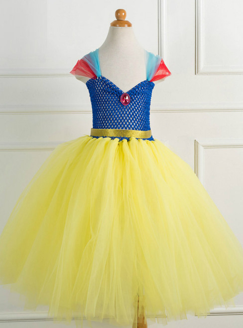 Princess Yellow Gauze Tulle Tutu Dress