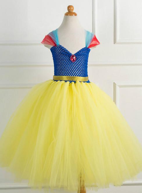 Princess Yellow Gauze Tulle Tutu Dress