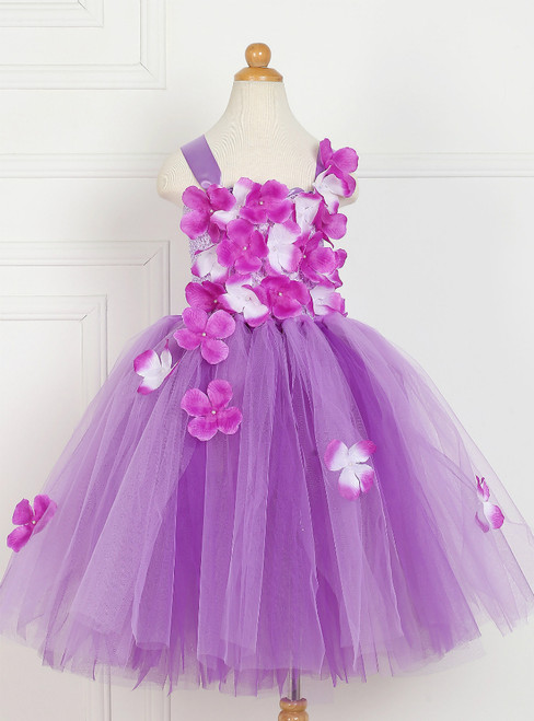 Handmade Flower Tulle Tutu Dress