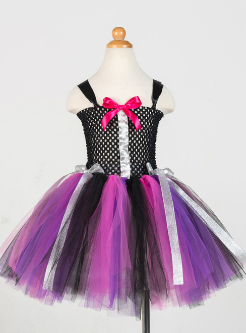 Halloween Hand Tied Bow Tulle Tutu Dress
