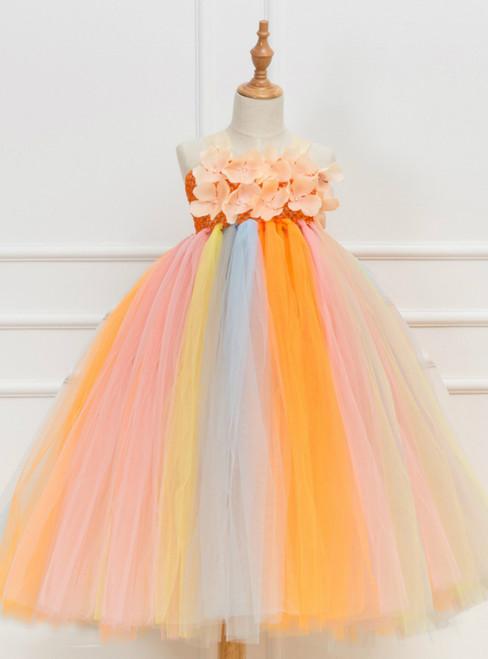 Flower Tulle Tutu Party Girls Dress