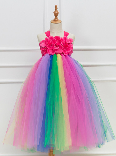 Flower Tulle Tutu Party Cosplay Dress